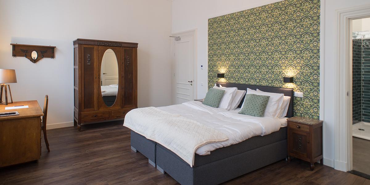 Hotelkamer De Blauwe Pauw
